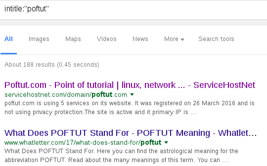 Search Sites Title