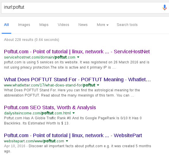 Search Sites URL