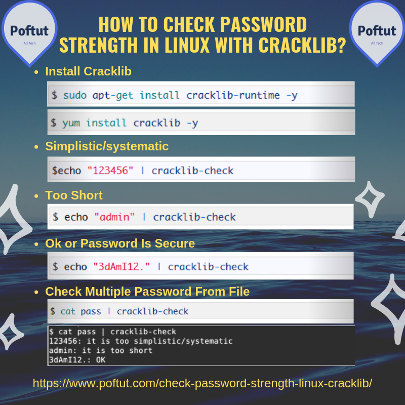 How To Check Password Strength In Linux With Cracklib? Infografic