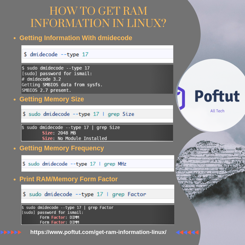 How To Get Ram Information In Linux? Infografic