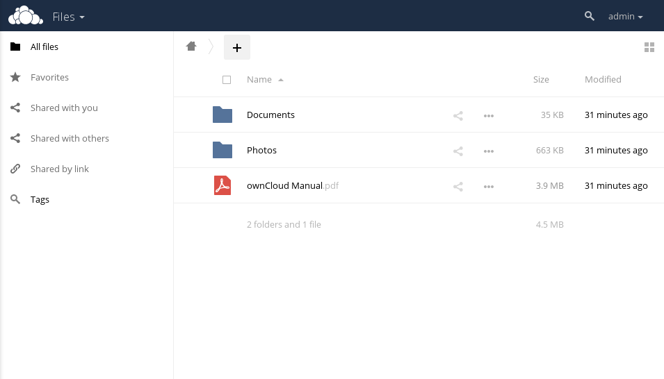 OwnCloud Panel