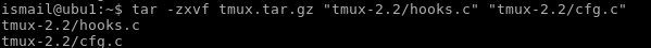Extract Multiple File From Tar.Gz Archive