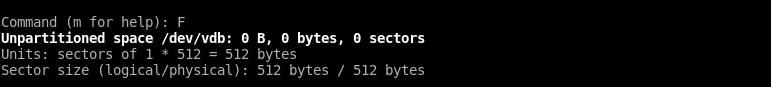 List Unpartitioned Disk Space
