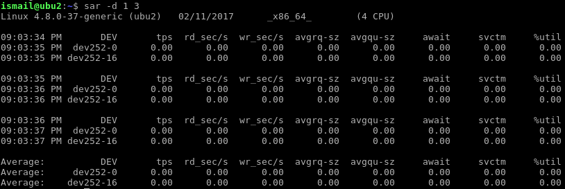 Show Specific Disk I/O Stats