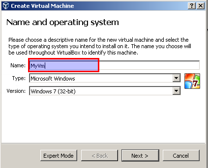 Set Name , Operating System and Version