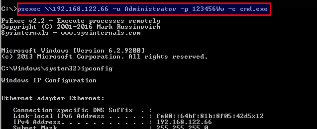 Copy Command From Local To The Remote System