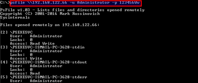 List File On the Remote System With PsFile