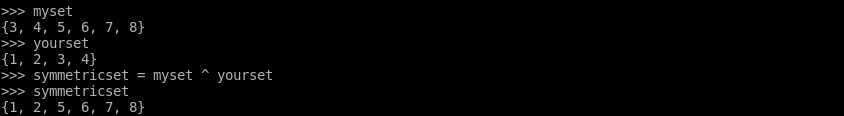 Symmetric Difference Of Two Sets