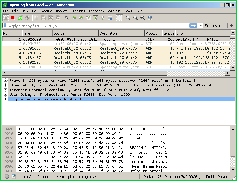 Select Interface and Capture Packets