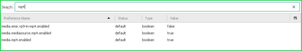 Search and Filter About Config