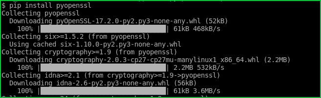 Install OpenSSL Python Lıbrary with Pip