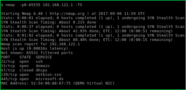 Faster Scan For All Ports