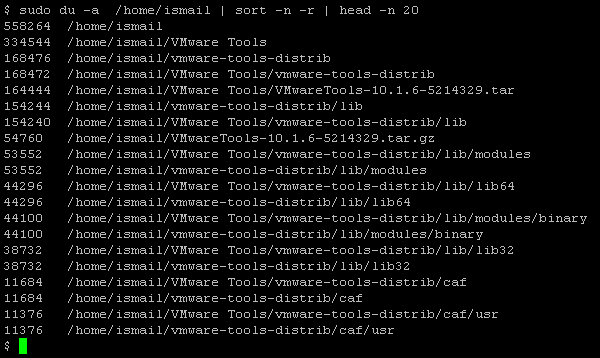 Find and Sort Large Files and Directories with du Command