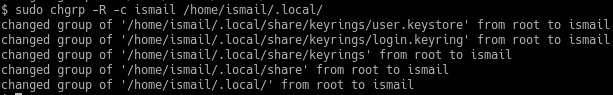 Verbose Output Only Group Ownership Change