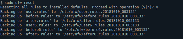 Reset All Rules In ufw