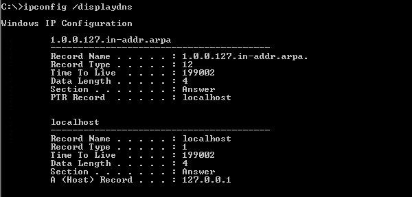 Check DNS Cache Entries Whether Flushed