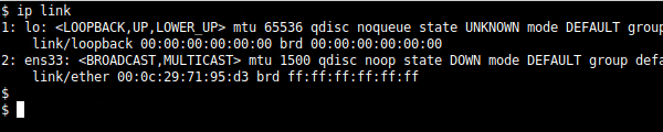 Linux ip link Command