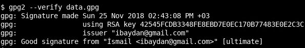 Verify Signed PGP File