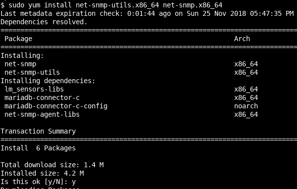 Install SNMP Packages