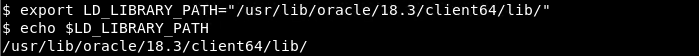 Add Oracle Library To The LD_LIBRARY_PATH
