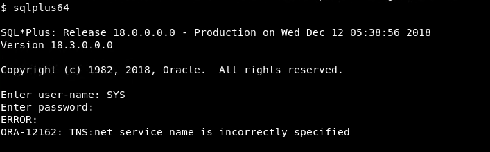 """""""ORA-12162: TNS:net service name is incorrectly specified"""" Error"""