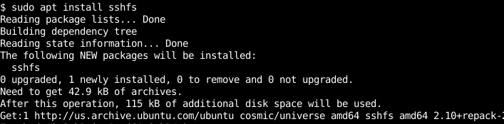 Install SSHFS Client For Linux