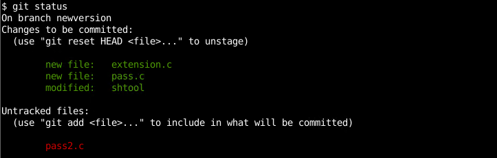 List Changes From The Last Commit