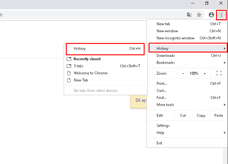 Open From Chrome Menu