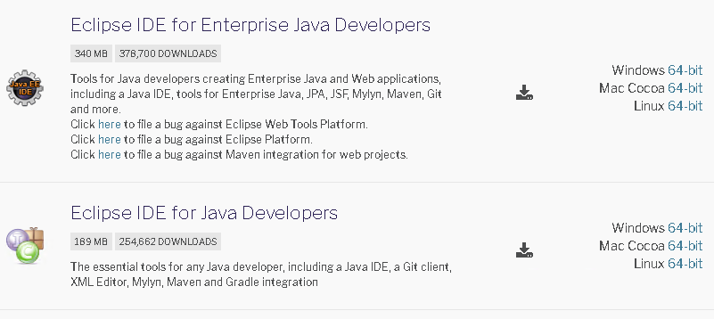 Select Eclipse Java IDE Type