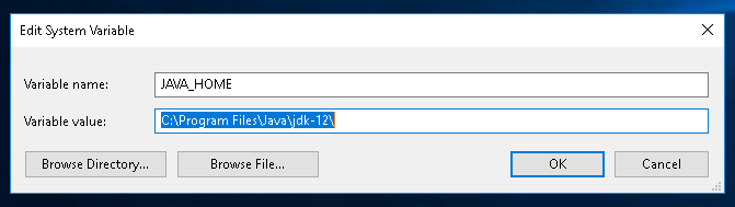 Set System Variable Name and Value