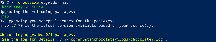 Update Specified Packages, Programs with Chocolatey