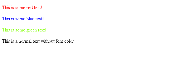 Change Font Color with Hex Number