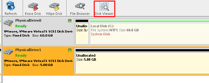 View Raw Disk Data