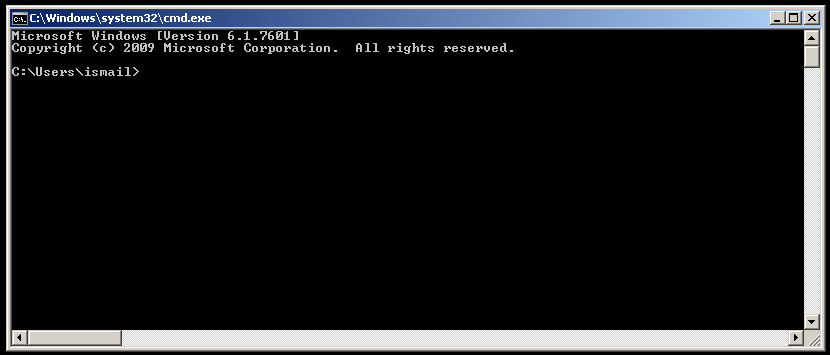 MS-DOS Command Prompt