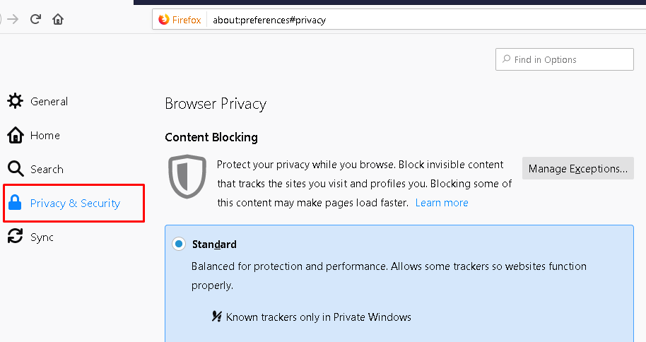 Click Privacy&Security