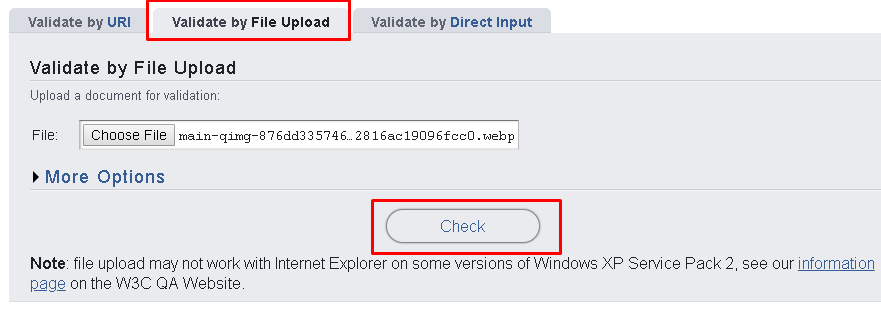 Validate By File Upload