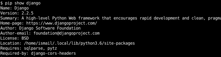 List/Display Python Packages Information, Version