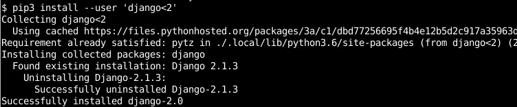 Install Package Version Which Is In Specified Range with pip Command