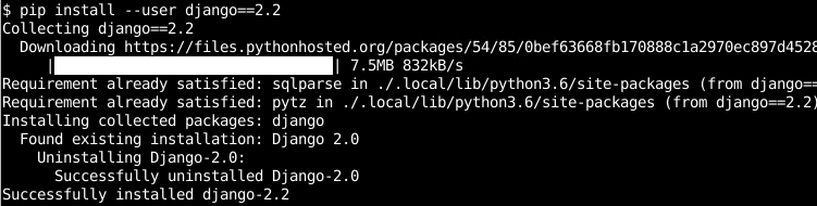 Upgrade/Update Python Package To The Specific Version