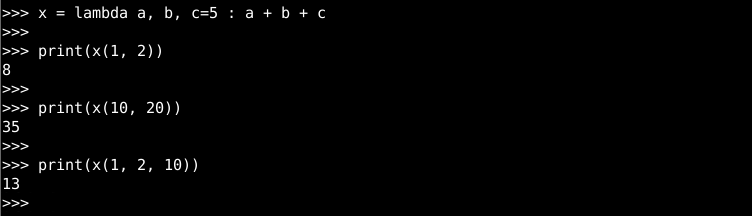Lambda with Named Arguments