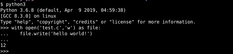 with Statement File Operations