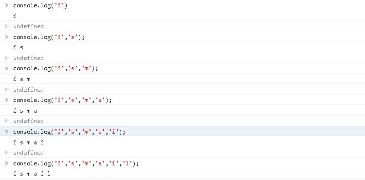 Print Char To The JavaScript Console
