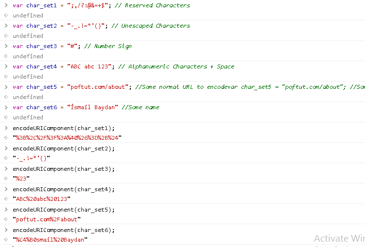 Encode with encodeURIComponent() Function