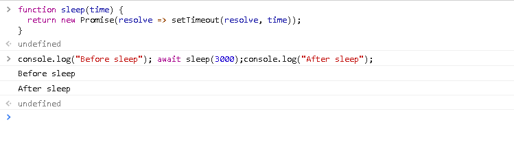 Create and Use sleep() Function with a Promise and setTimeout Function