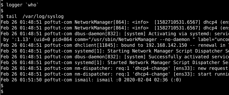 Redirect Command Output As Log