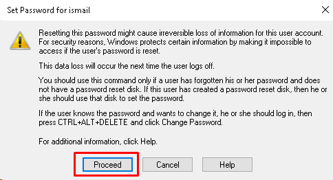 Proceed To Password